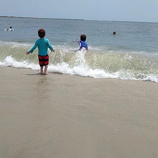the kids are splashing the summer away