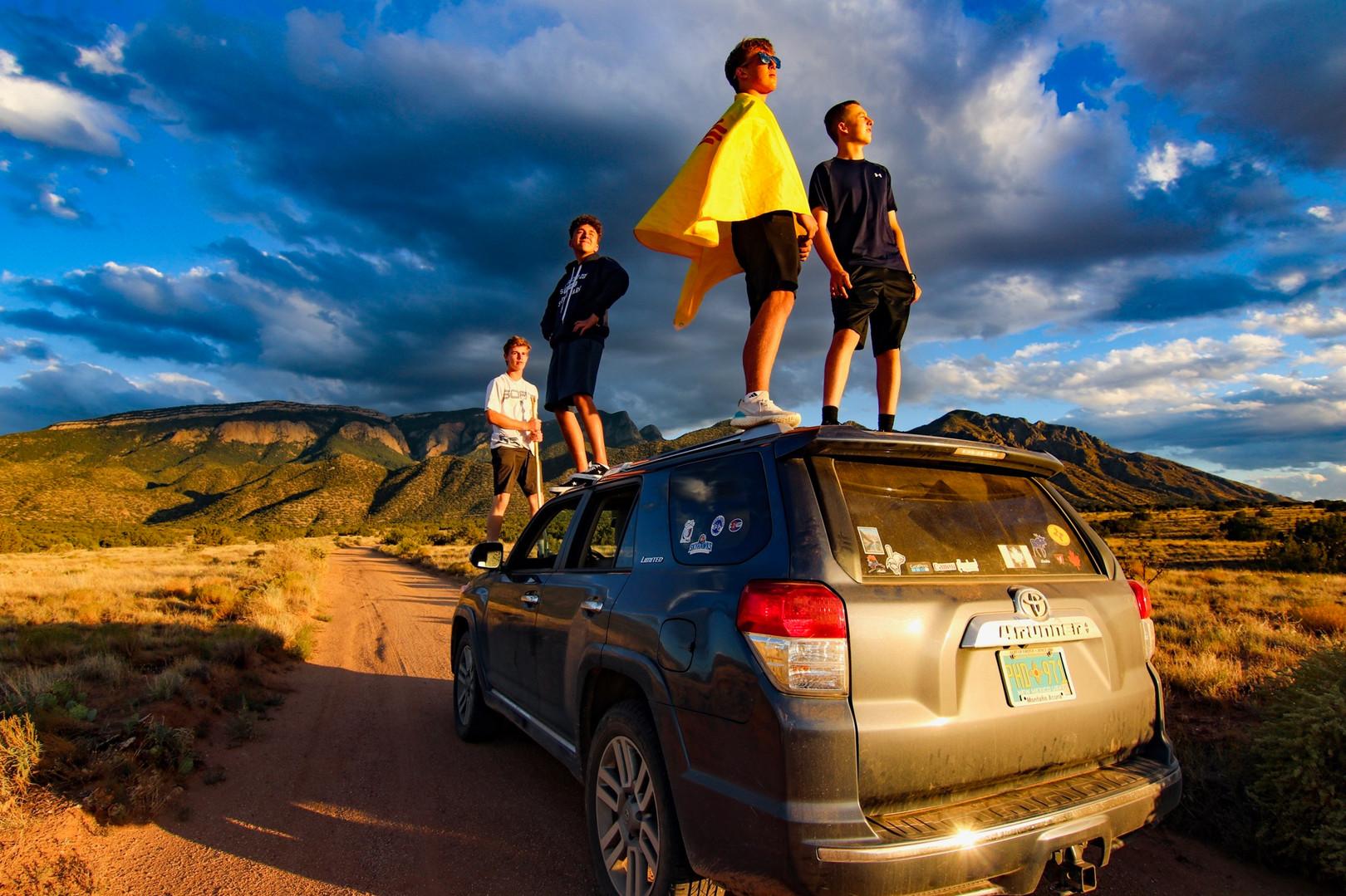 Four Boys, one car, one trip