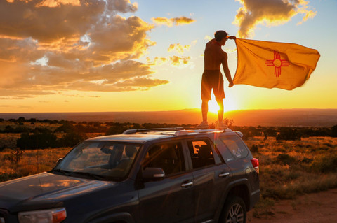 Noah Morlock in a New Mexico Sunset