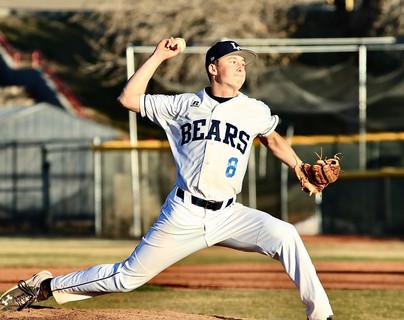 Luke Helm pitching