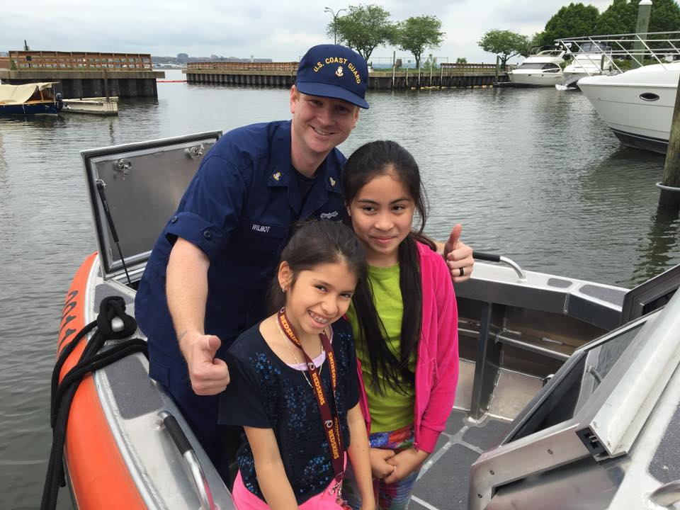 WHS USCG boat high five