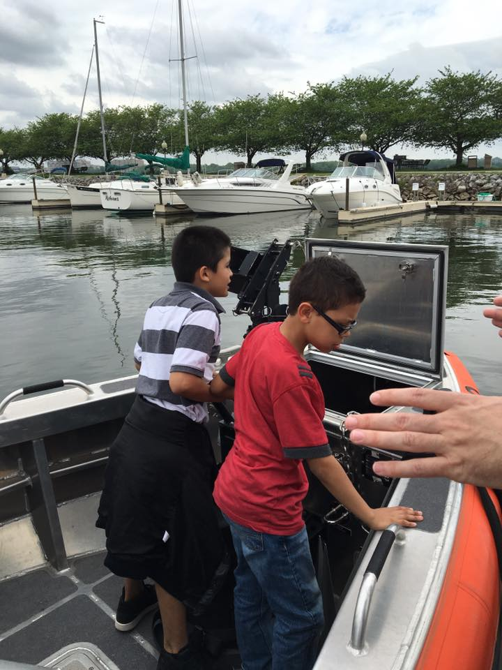 WHS USCG front of boat