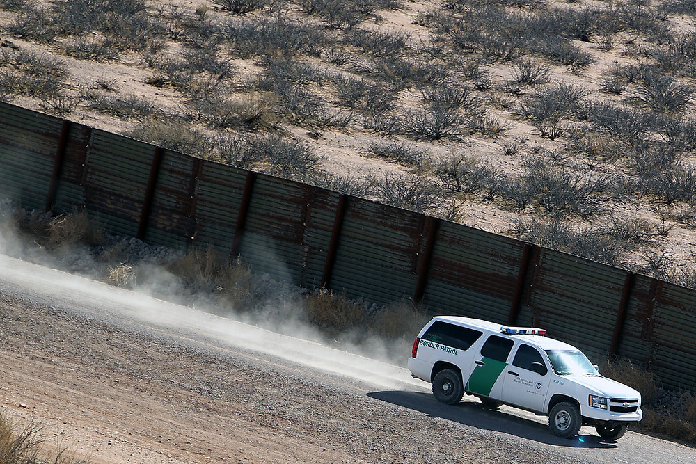 CBP car along the border