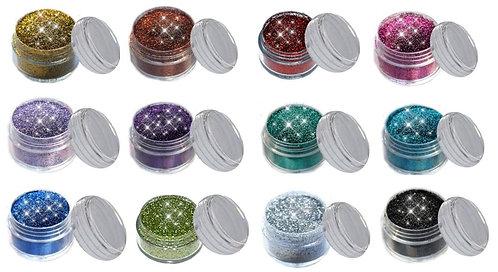 Kosmetik Glitzer 12 FARBEN