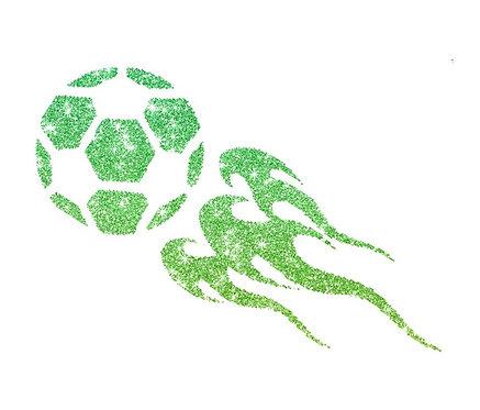 Schablone FUßBALL FLAMME