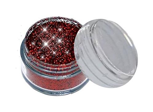 Kosmetik Glitzer Farbe: ROT