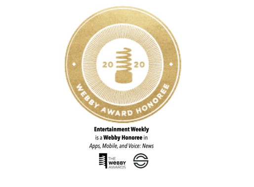 Entertainment Weekly Becomes Webby Honoree in the 24th Annual Webby Awards
