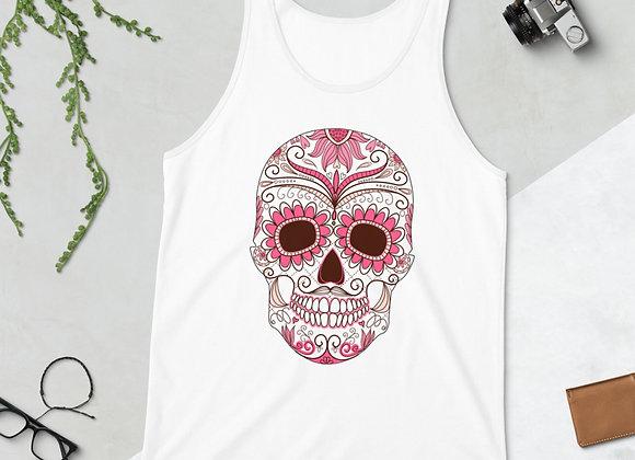 Débardeur unisexe pink skull