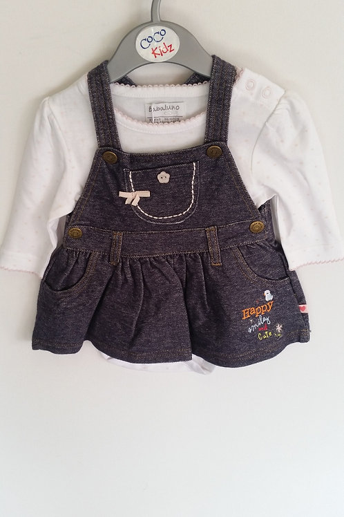 Pinafore and Bodysuit Set