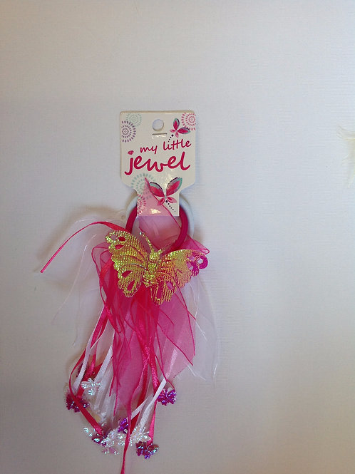 Cerise Pink Butterfly Windmill Elastic – 2 Pack