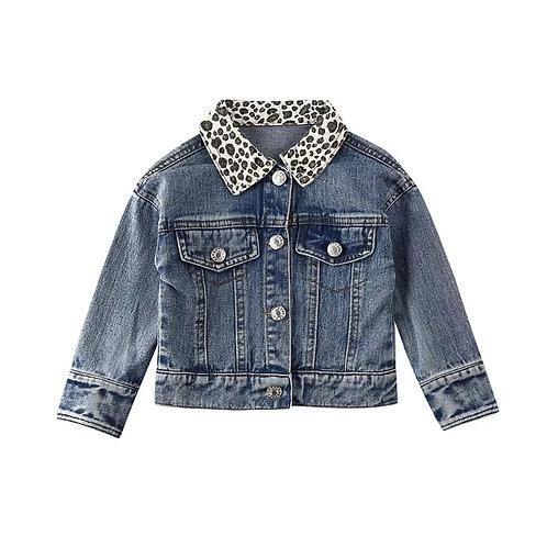 Denim / Leopard Jacket