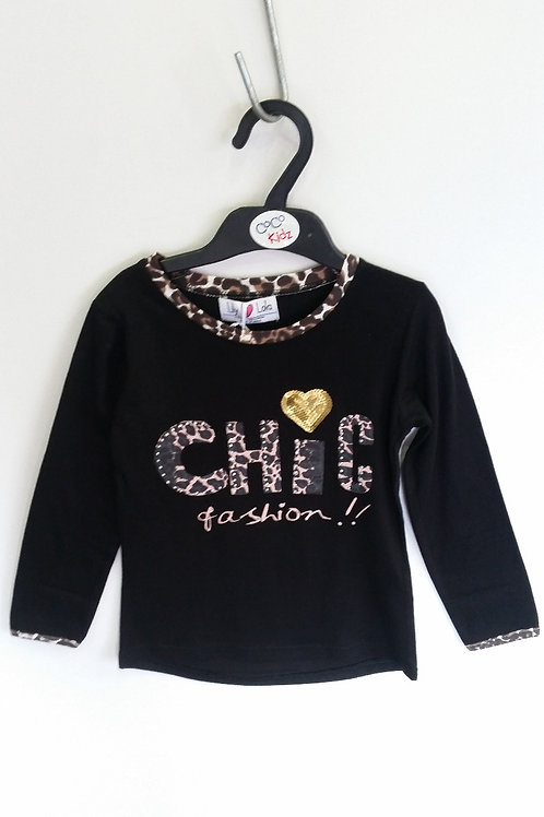 CHIC Girl's Long Sleeve Top - Black