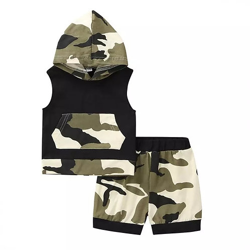 ARMY Print 2 piece set - sleeveless