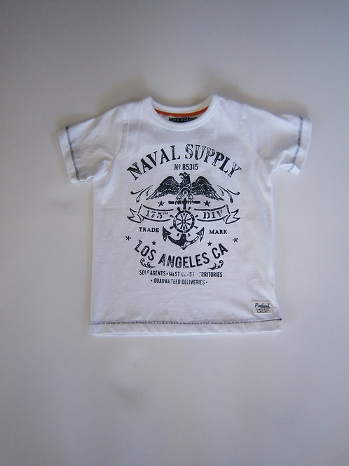Boy's Naval T-Shirt – White