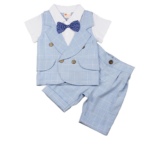 Boys 2 Piece Short Sleeve Formal Set