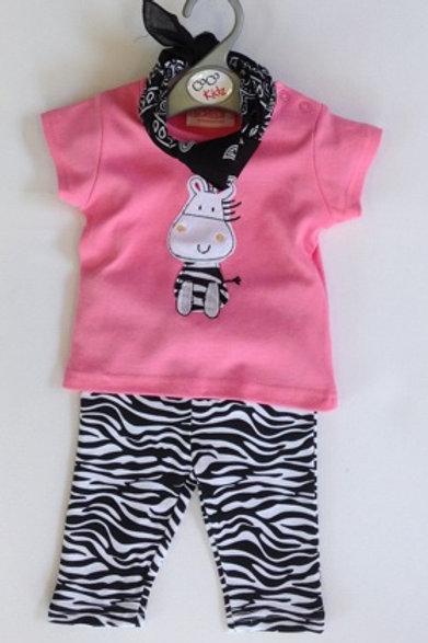 Baby Girl's Zebra 2 piece set