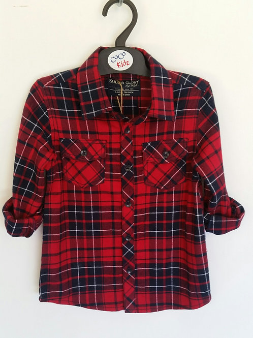 Checked Shirt - Red