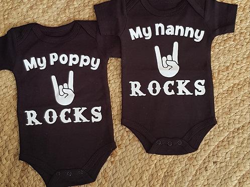 Coco Kidz by Design - My nanny/poppy rocks onesie