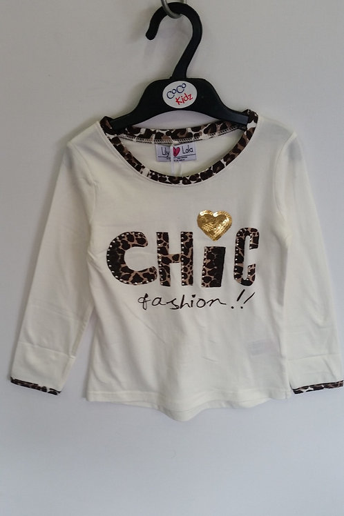CHIC Girl's Long Sleeve Shirt - White