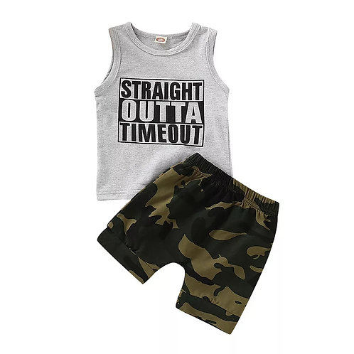 Straight Outta Timeout Camo 2 piece