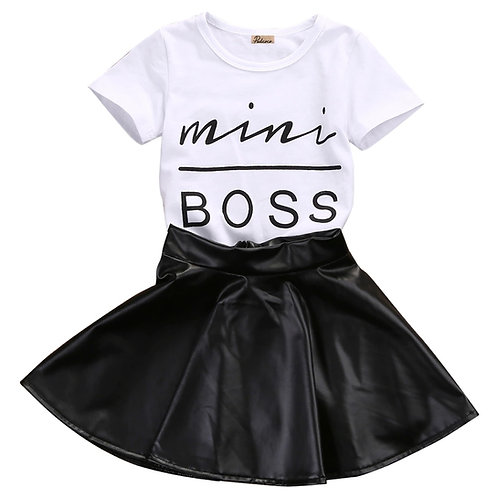 Mini Boss Top + Skirt