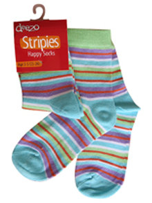 Blue, Green,Purple and Red Striped Socks