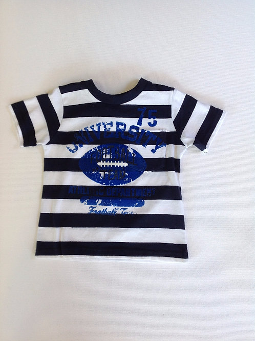 Boys Football T Shirt  - Blue