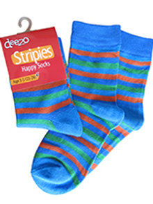 Blue and Red Striped Socks