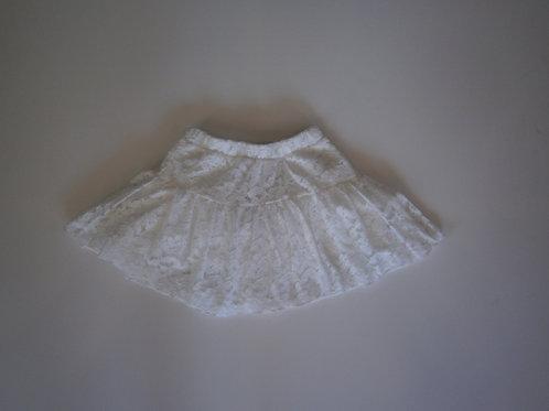 Girl's Lace Skirt – White