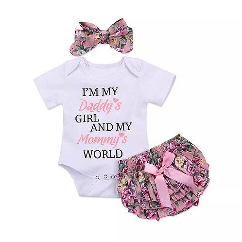 Daddy's Girl & Mummy's World 3 piece set