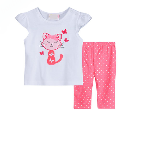 Baby Girl's Cat 2 Piece Set