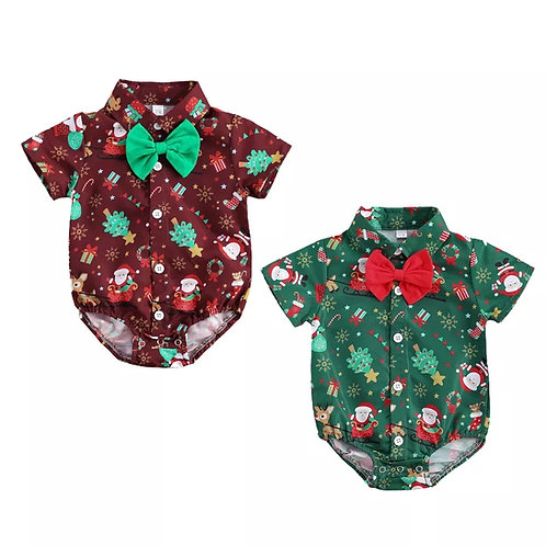 Boys Christmas Romper