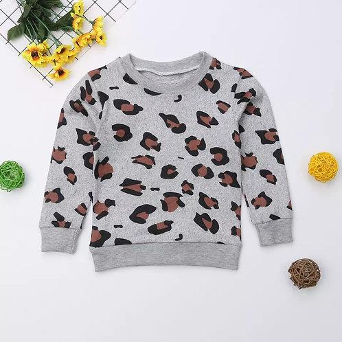 Leopard Sweater - Grey