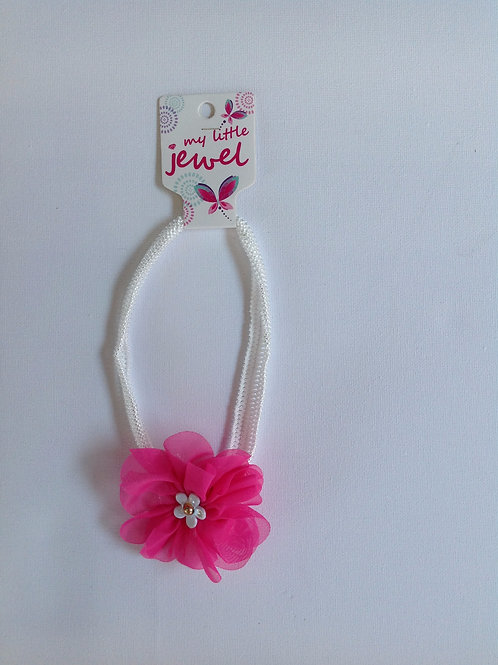 Cerise Pink Flower Headband