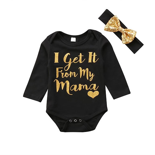 Get it from my MAMA long sleeve onesie