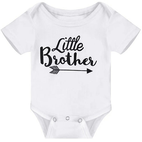 Little Brother Onesie - White