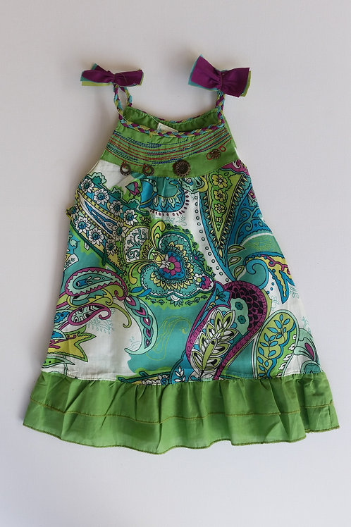 Green and Purple Wildflower Dress