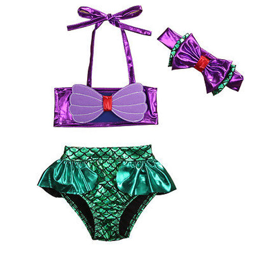 Mermaid Bikini - 3 Piece Set