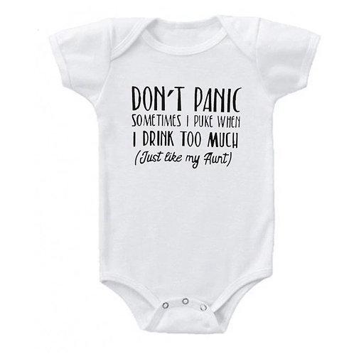 Don't Panic!! Sometimes I puke...just like my aunt!