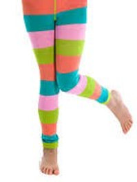 GREEN, BLUE, PINK AND PEACH LEGGINGS