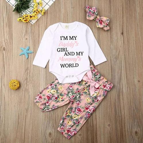 Daddy's Girl Mummy's World 3 Piece Set
