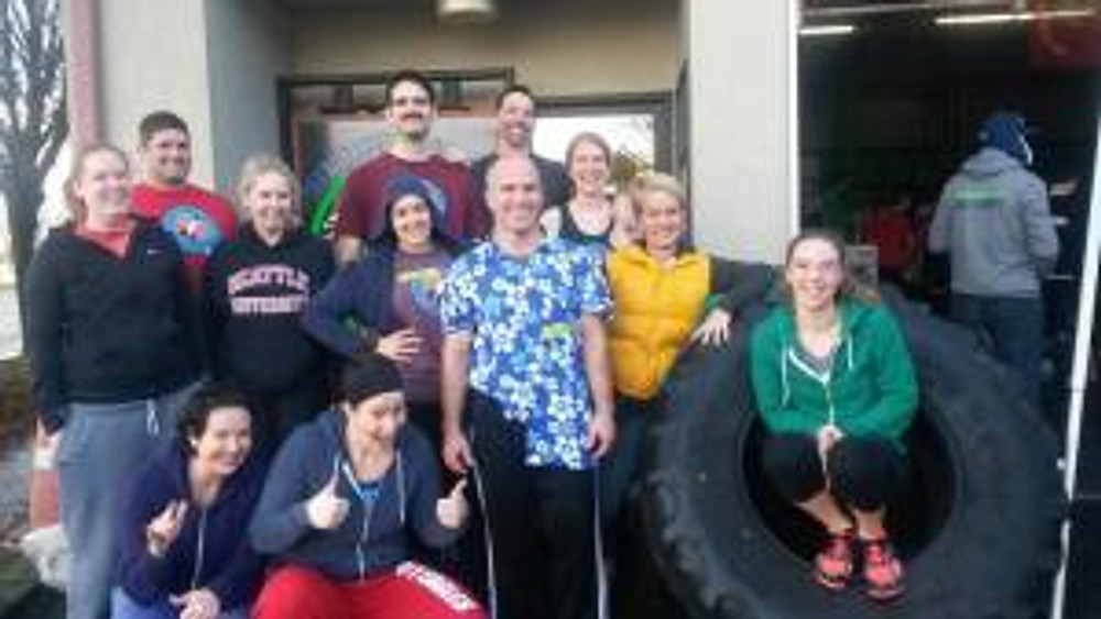 Our awesome Rocket CrossFit team, when it was all over.