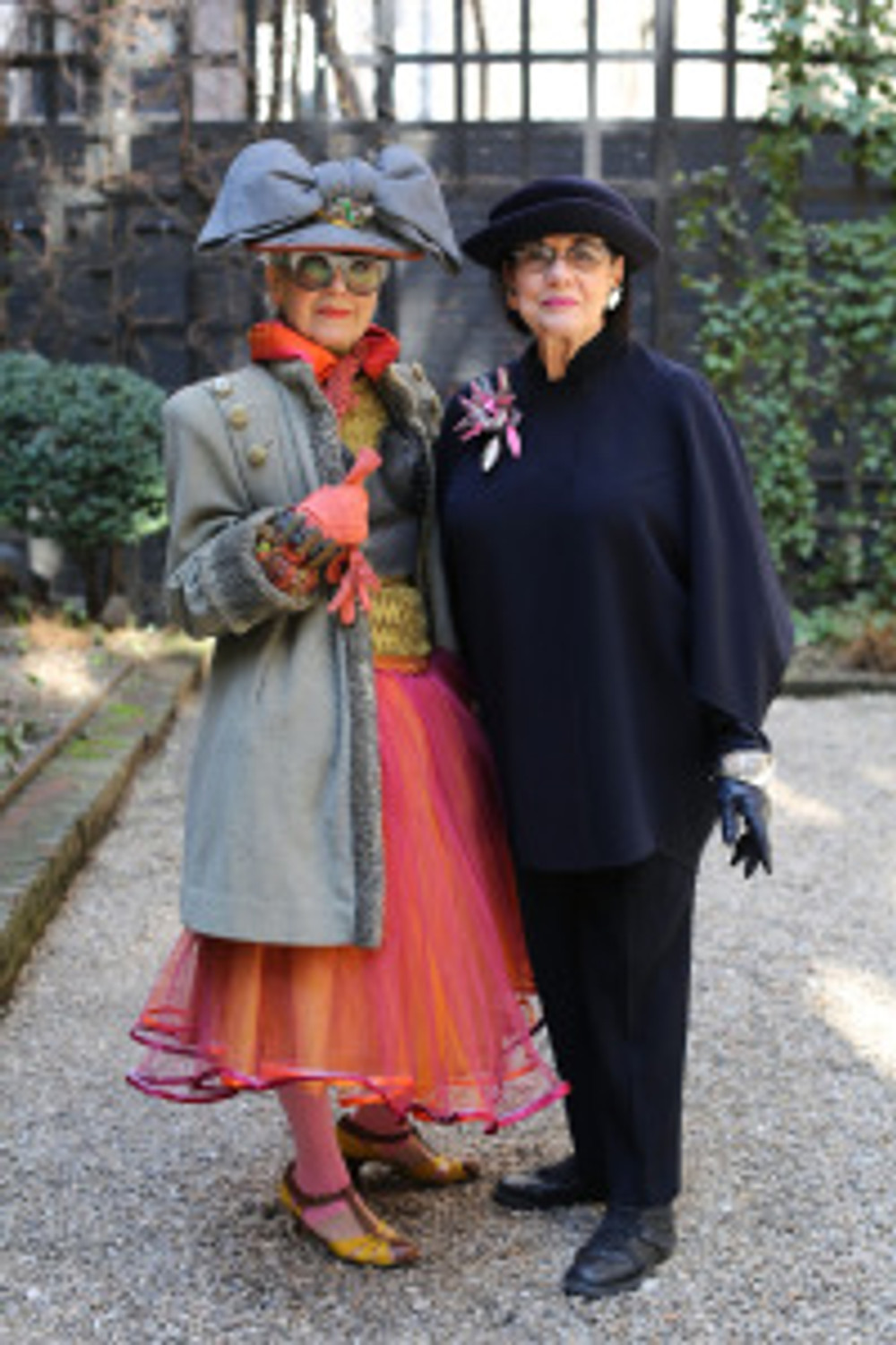 """Helen and Debra from Advanced Style. These ladies sum up everything that I think matters about aging, and I doubt they wake up thinking """"if only I didn't have that wrinkle."""" www.advancedstyle.blogspot.com"""