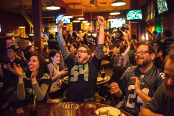 Football in a bar