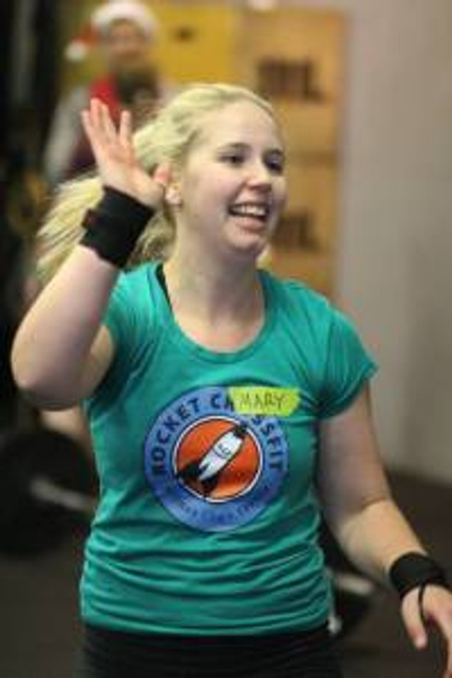 Mary, after finishing her first WOD. That look says it all. Create opportunities for yourself to smile like that!