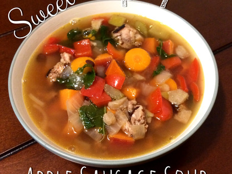 Sweet & Spicy Apple Sausage Soup
