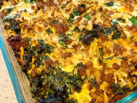 Chorizo Kale Egg Bake