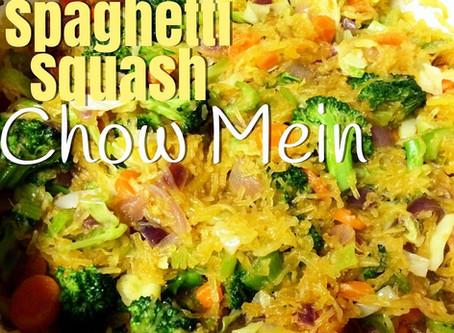 Ginger Spaghetti Squash Chow Mein