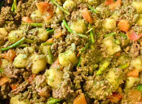 Pesto Cauliflower Gnocchi & Grass Fed Ground Beef