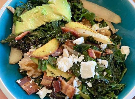 Pear Avocado & Goat Cheese Salad